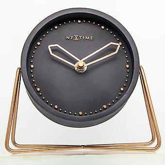 NeXtime-tafel klok – 17,5 x 15,5 x 5 cm-polyresin-zwart