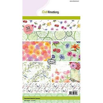 CraftEmotions Paper stack Botanical Summer 32 sheets A5