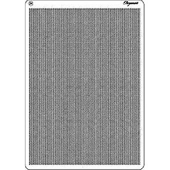 Pergamano Diagonal Fine Multi Grid 24 for Embossing and Perforating, Grey