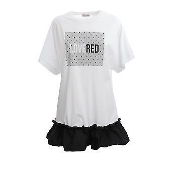 Red Valentino Tr3mj04l518a01 Women's White Cotton Dress