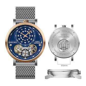 Carlo Cantinaro CC1004GM016 Men's Watch Quartzmatic GMT