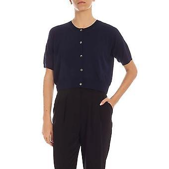 P.a.r.o.s.h. D520670blue Women's Blue Cotton Cardigan