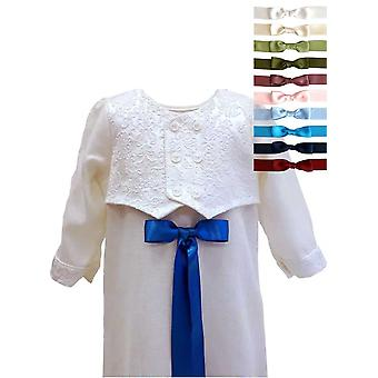 Christening Gown For Boys,  With Brocade Vest, 10 Choices Of  Bow, Grace Of Sweden