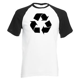 Todellisuus häiriö kierrätys symboli miesten baseball-paita