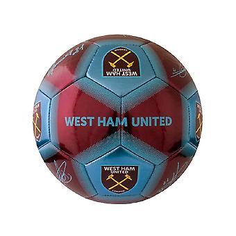 West Ham United FC Printed Signature Football