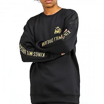 Kings Will Dream Junior Gisha Black/Gold Crew Neck Sweatshirt J470