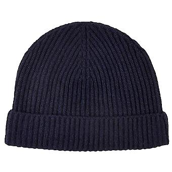 Johnstons of Elgin Full Cardigan Stitch Hat - Navy