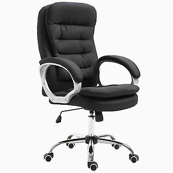 Vinsetto Office Chair Ergonomic Executive Style Home Work Extra Padded w/ Swivel Base 5 Wheels Black
