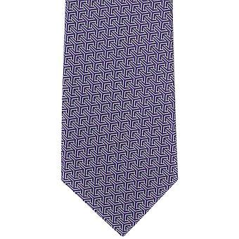 Michelsons di Londra ad incastro geometrico poliestere cravatta - viola