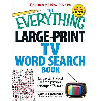 The Everything Large-Print TV Word Search Book - Large-Print Word Sear