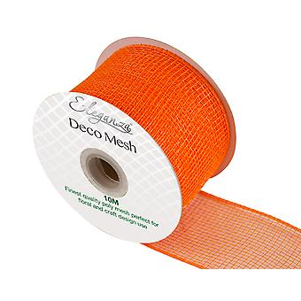 Orange 6cm x 10m Deco Mesh Roll for Wreath Making, Floristry & Crafts