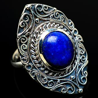 Lapis Lazuli Ring Size 6.5 (925 Sterling Silver)  - Handmade Boho Vintage Jewelry RING7957