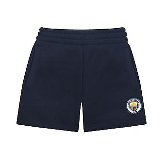 Manchester City FC Official Football Gift Boys Kids Fleece Jogger Shorts