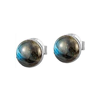 Jacques Lemans - Sterling Silver Studs with Labradorite - SE-O122B