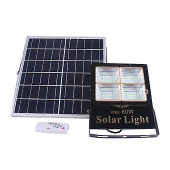 Jandei Güneş LED Projektör Ayrılmış Doğulabilir Güneş Paneli, Uzaktan Kumanda, 60W, 1375 Lümenler. Ip65 Dış Koruma. Özerklik 2 Gece. 120 LED