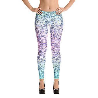 Fashion leggings | artist | doodle in pastel colors