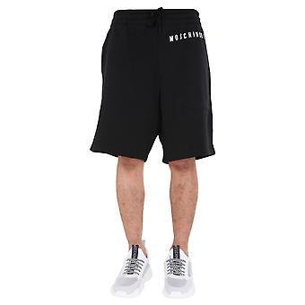 Moschino 035570271555 Men's Black Cotton Shorts