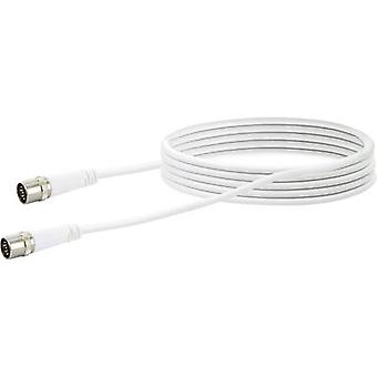 Schwaiger Antennas, SAT Cable [1x F quick connector - 1x F quick connector] 5.00 m 10 dB fourfold shielding White