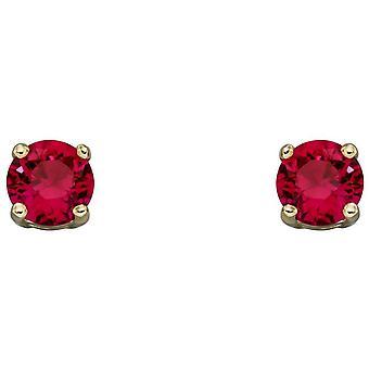 Elements Gold July Birthstone Stud Earrings - Rouge/Or