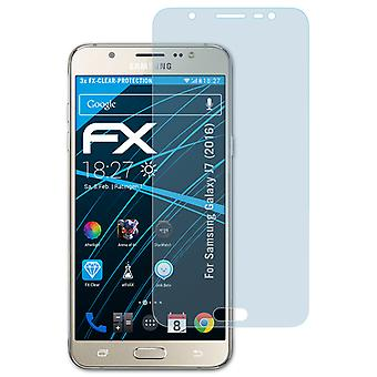 atFoliX Glass Protector compatible with Samsung Galaxy J7 (2016) 9H Hybrid-Glass