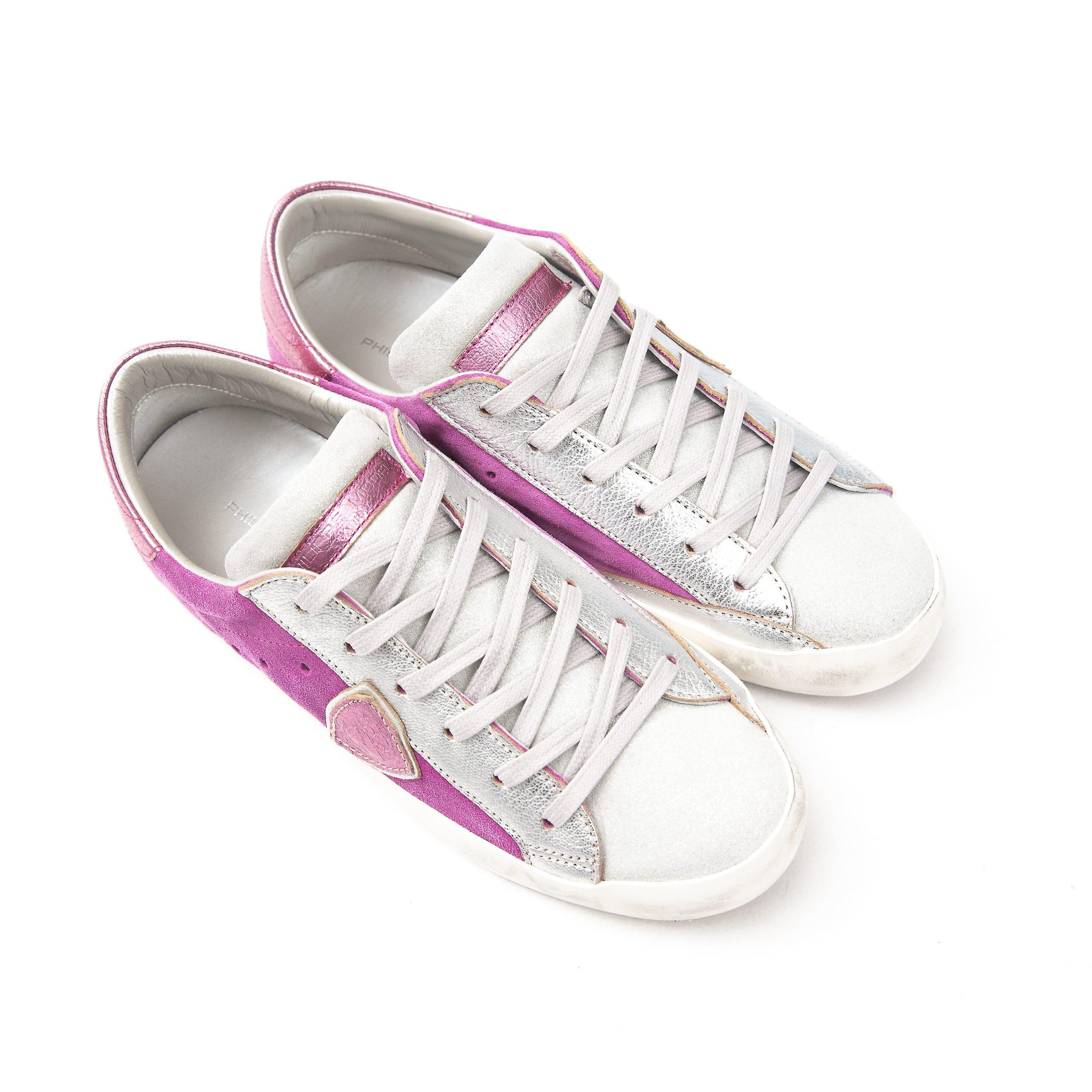 Philippe Model Fuchsia Suede Leather Sneakers