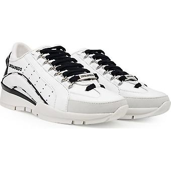 Dsquared2 Piping Logo Leather Trainers