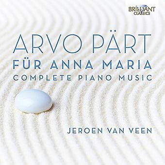 Part/Van Veen/S. Van Veen/Fonda - Fur Anna Maria [CD] USA import