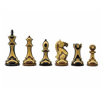 The Hancock Striped Staunton Chessmen 4 inch