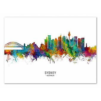 Art-Poster - Sydney Australia Skyline (Colored Version) - Michael Tompsett 50 x 70 cm
