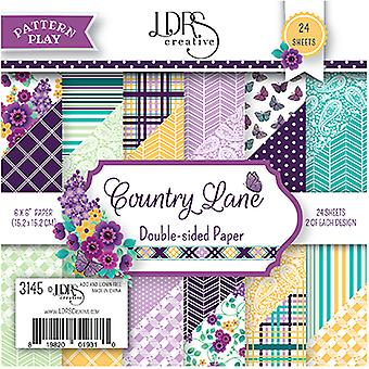 LDRS Creative Pattern Play Country Lane 6x6 Inch Paper Pack