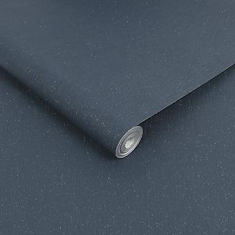 Julien Macdonald Disco Navy Glitter Plain Pattern Washable Wallpaper
