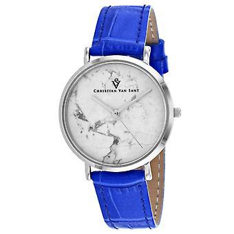 Cv0420, Christian Van Sant Damen'S Lotus - Weiße Uhr
