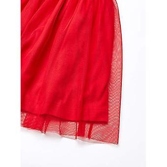 Brand - Spotted Zebra Girl's Tutu Tank Dress, Black/Red, X-Large (12)