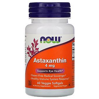 Now Foods, Astaxanthin, 4 mg, 60 Veggie Softgels