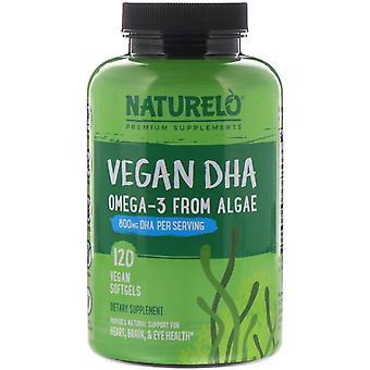 NATURELO, Vegan DHA, Omega-3 from Algae, 800 mg, 120 Vegan Softgels