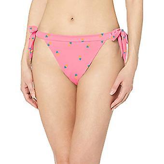 Essentials Kvinner's Side Tie Bikini Badedrakt Bunn, Rosa Ananas, L