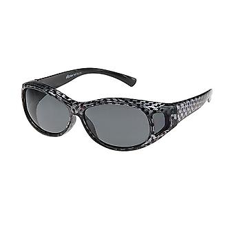 Sunglasses women's silver / black with grey lens Vz0007pw