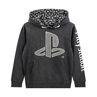 PlayStation Hoodie For Boys | Kids Gamer Hooded Long Sleeve Charcoal Sweatshirt | Clothing Merchandise