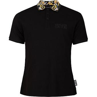 Versace Jeans Couture barock tryckt krage Polo