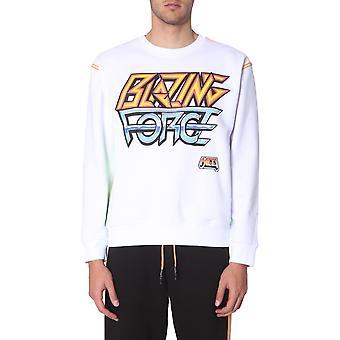 Mcq Door Alexander Mcqueen 535620rnh1090000 Men's White Cotton Sweatshirt