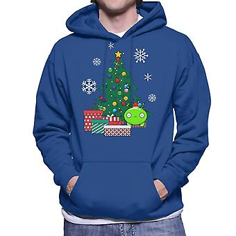 Mooncake Around The Christmas Tree Final Space Men's Hooded Sweatshirt