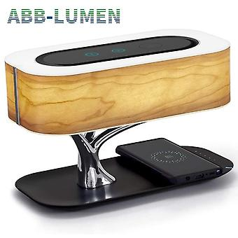 Modern Led Table Lamp For Bedroom Dimmable Bluetooth Speaker Phone Charger Wireless Desk Lamp - Light Tree Lamp