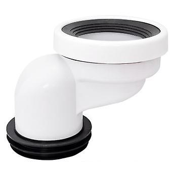 Vuotosuojattu offsetletkuliitin tyhjennysputken ja wc:n vaihtoliittimeen