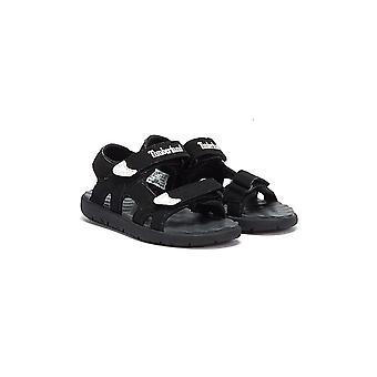 Timberland Perkins Row 2-Strap Maluchy Czarne sandały