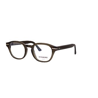 Cutler and Gross 1356 08 Olive Green Glasses