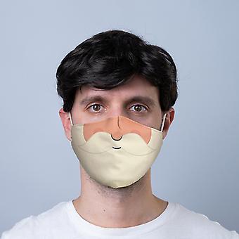 الجلجلة أجراس عيد الميلاد سانتا اللحية التي يمكن إعادة استخدامها الوجه تغطي - كبيرة