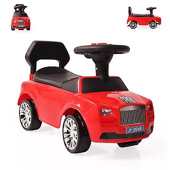 Children's car, slider Go Ride A, storage compartment, horn, music function, backrest