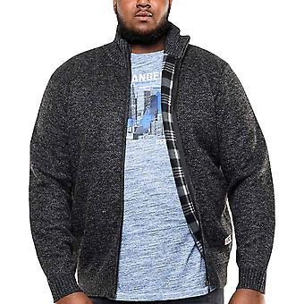 Duke D555 Mens Big Tall King Storlek Sherwood Fleece fodrad tröja jacka - svart