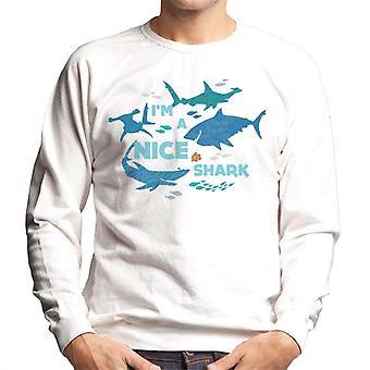 Pixar Finding Nemo I'm A Nice Shark Men's Sweatshirt