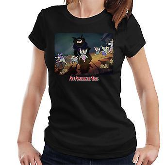 en amerikansk hale kosakk katter truende kvinner's T-skjorte